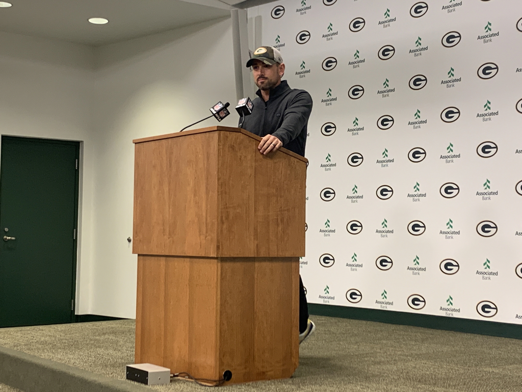 """Matt LaFleur said the Packers are sticking with Darrius Shepherd on returns even after his fumble against the Lions. """"He's a young player; I don't think you cut the cord with one mistake,"""" LaFleur said. Meanwhile, they'll face their former returner, Trevor Davis, with Oakland on Sunday."""