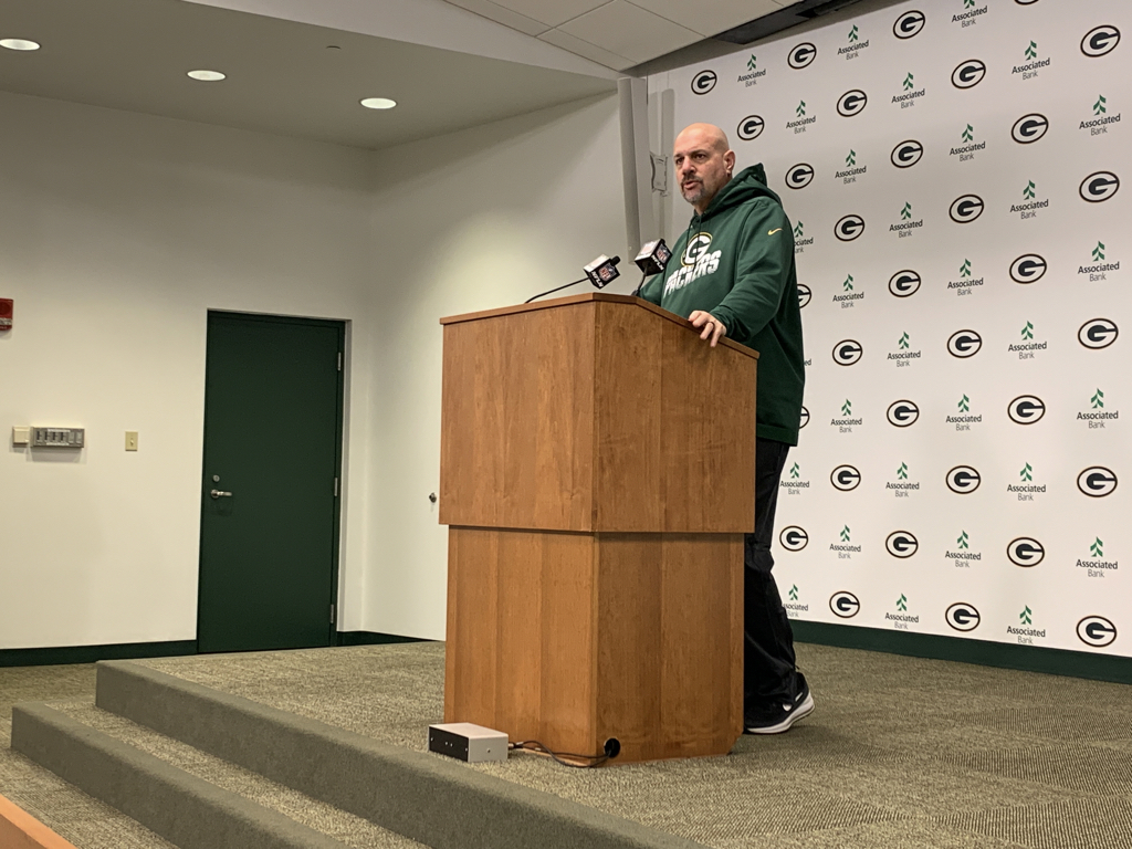 "Does it help Packers D-coordinator Mike Pettine prepare for the 49ers offense because of the connection between Kyle Shanahan and Matt LaFleur? Pettine said the help came this summer going against it in training camp, but ""it's a different play caller, they game plan differently and they have different types of players. While it helps a little bit, that's about it – a little bit."""