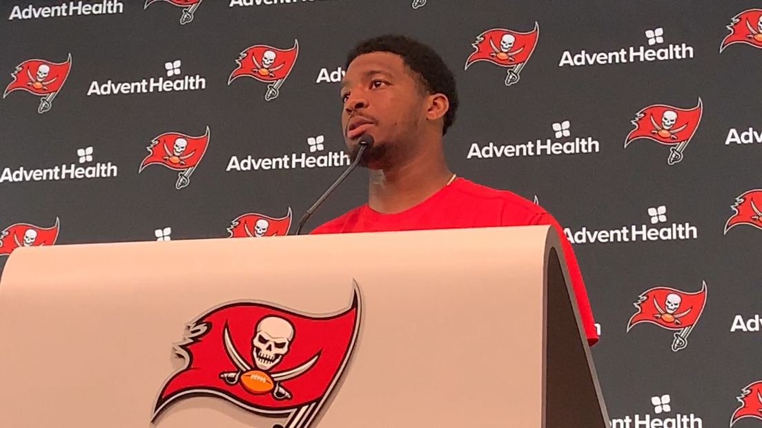 """Offensive line coach/run game coordinator Harold Goodwin took a page from Janet Jackson to pump up Jameis Winston this week. He said to Winston, """"What have you done for me lately?"""" to convey that it's a """"week-to-week league"""" and what they did last week against the Rams doesn't matter now. Winston may have been born in 1994 (the song came out in 1986) but he said, """"Now come on. I KNOW some Janet Jackson songs. Don't test my culture (laughs)."""""""